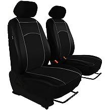 Fundas de asiento frontal 1 + 1 para Volkswagen T4, piel ecológica, 7 colores