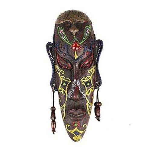 Kleine geschnitzte afrikanische Masken-Wand hängende Afrika-Dekor-Wand-Kunst-Schablone für Haus / Stab / Speicher / Kneipe, D