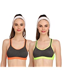 Embibo Sport Women Women Running Bra Full-Coverage Bras red and black bra
