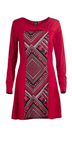 Coline - Robe manches longues Rouge