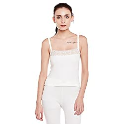 Women Off White Thermal Tops