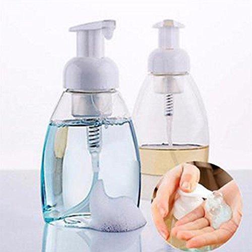 Seife Schäumendes Spender 250/300ml nachfüllbar Pumpe Seife Schäumer Flasche Transparente Flüssigkeit Flasche Container 300 ml Wie abgebildet - Reich Schäumendes Bad