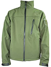 WEB-TEX Tactical Soft Shell Jacket - Olive Green Large
