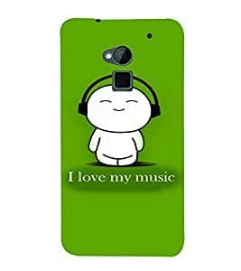 PrintVisa Music Cute Quotes 3D Hard Polycarbonate Designer Back Case Cover for HTC One Max