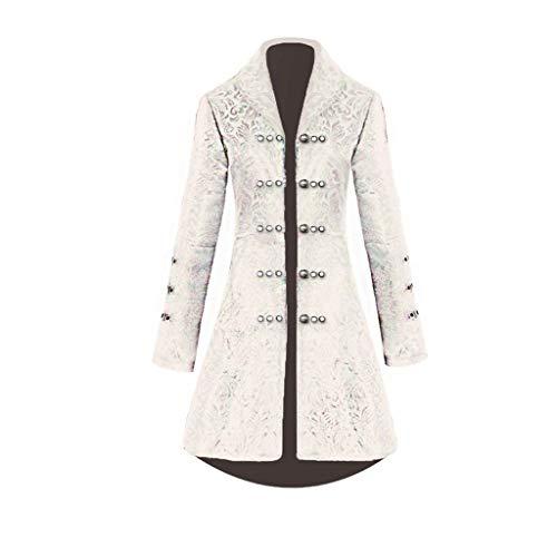 Steampunk Damen Mantel, Dasongff Taillierte Smokingjacke in Taillenhöhe, Eleganter Retro Unregelmäßige Tailcoat Blazer Viktorianischen Langer Kostüm Cosplay Kostüm Uniform Outwear -