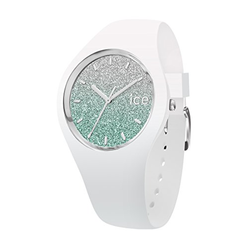 Ice-Watch - ICE lo White turquoise - Weiße Damenuhr mit Silikonarmband - 013430 (Medium)