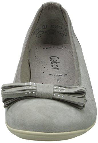 Gabor Damen Fashion Geschlossene Ballerinas Grau (stone 19)