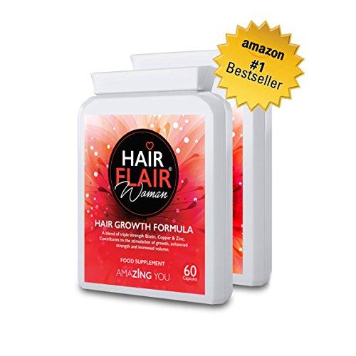 Zing pelo Flair® para las mujeres (Pack doble)-# 1más vendido extrema pelo suplementos de vitalidad para mujeres con nuestra propia especial formulación para Amazing pelo. 45% de descuento oferta especial introductoria y entrega gratuita.