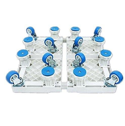 Verstellbar Mobile Base (XIAOMEIXI Bewegliche Maschinenwaschmaschine Base Bracket Kühlschrank Pulsator Zubehör Verstellbarer Trolley Universal Rad Erhöhung Edelstahl , A)