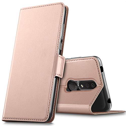 GEEMAI für Nokia 4.2 Hülle, handyhüllen Flip Hülle Wallet Stylish mit Standfunktion und Magnetisch PU Tasche Schutzhülle passt für Nokia 4.2 Smartphone, Rosegold Alle Nokia-flip-telefone