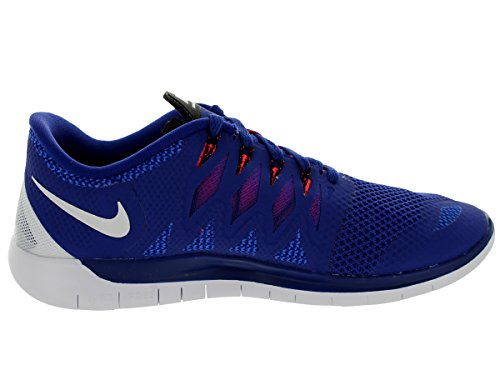 Nike Free 5.0 642198 Unisex Laufschuhe Blau/Neonrot