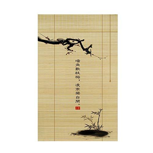 HAMIMI Rollo Bambus Vorhang Can Lift Multifunktional Wasserdicht und Schimmel Vorhang Trennvorhang Rollladenvorhang Bambus Vorhang, Bambus, 130x250cm