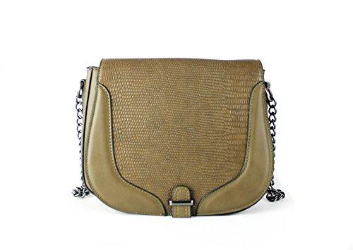FoxLady ,  Elegant strukturierte Tasche für Frauen Schultertasche Avocado