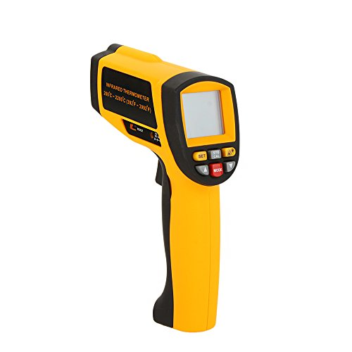KKmoon Festnight LCD-Anzeige Berührungslose 80: 1 Digitale Infrarot IR Thermometer Temperaturmessgerät Tester Temperaturbereich 200 ~ 2200℃ (392 ~ 3992℉)