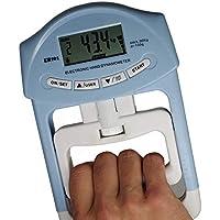 longdafei Equipo de Fuerza de Agarre Electrónico Dinamómetro Electrónico Auto Digital de la Mano del Dinamómetro de la Mano de 200 Libras / 90 Kilogramos con la Pantalla LCD Grande (Azul)