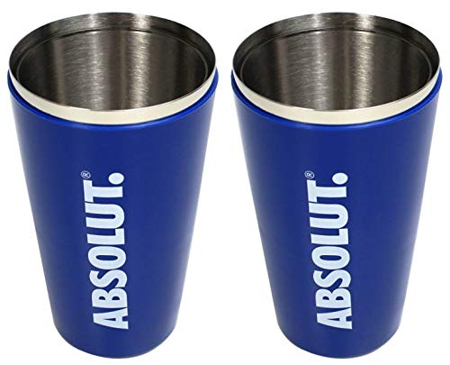 ABSOLUT Vodka Shaker 2er Set Boston 2-teilig Cocktail ~mn 558 0982+