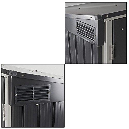 Duramax 5x 3ft Mülleimer Store–Anthrazit Grau/aus weiß - 6