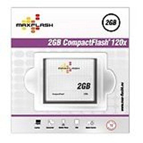 Speicherkarte 2 GB CF Maxflash Highspeed 120X für Canon Powershot G1 , G2 , G5 , S1is , Canon Powershot S10 , S20 , S30 , S40 , Canon Eos 20D , 20DA , 35D , 40D , Canon Eos 5D , Eos 7D , Eos 350D , Canon Eos 400D , Eos 1D , Eos 20DA , Canon S400 , A70 , Canon 1D Mark II , 1D Mark 2 , Canon Powershot A85 , A95 , G6 , S70 , Canon Ixus V2 , V3 , EOS 10D , Canon 7D Mark II , 7D Mark 2 , Canon Eos 300D , Ixus 400 , Ixus V3 , Canon Ixus 430 , Ixus 500 , Canon 1DS Mark III , 1DS Mark 3 , Nikon Coolpix D70S SQ , Nikon Coolpix D3 , D300 , D70 , D700 , Nikon Coolpix 900 , 3500 , 4300 , D2X , Nikon Coolpix 2000 , 2100 , 2500 , Olympus C-8080 , E-1 E-10 , E-100RS , Olympus E-20 , E-3 , E-30 , E-330 , E-400 und alle Kameras mit CF Kartenslot