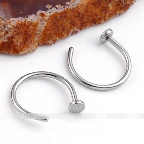 Bigboba 10 pezzi/set colore misto forma di c labbro anelli naso anello cerchio orecchini finti anelli,perno da piercing alla barra dell'osso,diametro 8mm