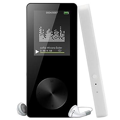 """Lecteur MP3 MP4 Musique Portable 8GB, Reytour Baladeur MP3/MP4 avec Photo Viewer, E-Book Reader et Radio FM, Ecran de 1.8"""", Max Support 64 Go Carte Micro SD?Noir? de Reytour"""