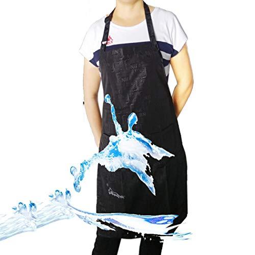 ZCVEH Schürze Schwarz Unisex Pet Grooming Schürze mit Tasche Wasserdicht Einstellbar Anti Tasks für Küche Family Restaurant Barbecue -