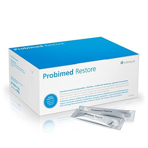 Probimed Restore - ein effektives 3 Komponenten System für einen gesunden Darm - hochdosierte Probiotika bzw. Probiotikum - wertvolle Ballaststoffe - kombiniert mit sinnvollen Mikronährstoffen - Vegan