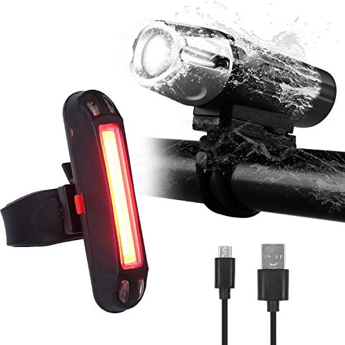 Amicool USB Rechargeable Bike Tail Light, Powerful 4/6 Light Modes, Super Bright LED Bicycle Rear Light and Easy Installation for Any Mountain Road Bike