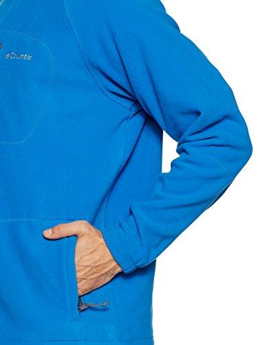 Columbia Herren Fleecejacke, mit durchgehendem Reißverschluss, Fast Trek II Full Zip Fleece, Microfleece Polyester, dunkelblau/dunkelgrau (super blue/graphite), Gr. S, AM3039 - 4