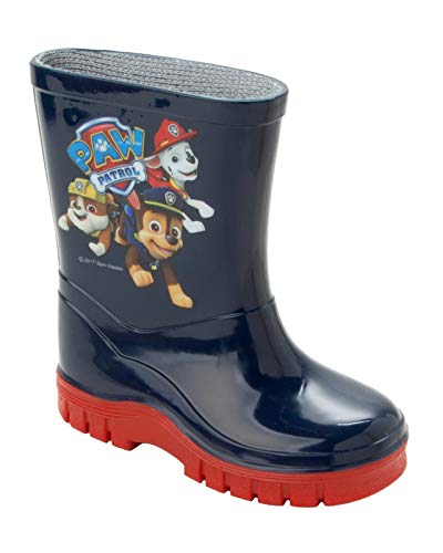 Boys Official PAW Patrol Wellies Blue Wellys RAIN Wellington Boots UK Size 4-10