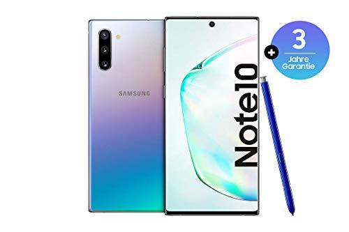 Samsung Galaxy Note 10 Smartphone Bundle (15.9cm (6.3 Zoll) 256GB interner Speicher, 8GB RAM, Dual SIM, Android) Aura Glow inkl. 36 Monate Herstellergarantie [Exklusiv bei Amazon] | Deutsche Version
