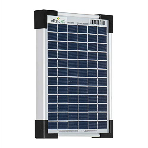 Offgridtec 5 W Solarmodul POLY 12 V, Solarpanel Solarzelle, 3-01-001555
