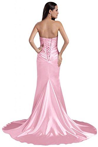 Sunvary elegante sirena senza spalline, per abiti da sera o da cerimonia, con perline Rosa
