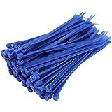 100X Attaches câble bleu 100mm x 2,5mm Zip bases de toutes les tailles