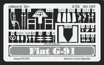 Eduard Photoetch (Zoom) 1:72 - Fiat G-91 (Revell) - usato  Spedito ovunque in Italia