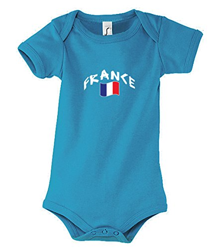 Supportershop blau Body Frankreich Aqua Unisex Baby, Unisex Baby, Body bébé France bleu, b Preisvergleich