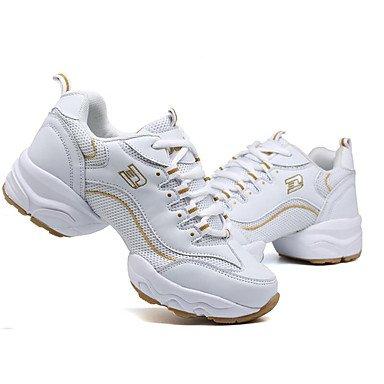 Moderno Preto Dançam Ao De Sintéticos Ar Branco Que Sapatos Tênis Dança Senhoras Preto Salto Baixo Sintéticos Livre P4xwv5qWS