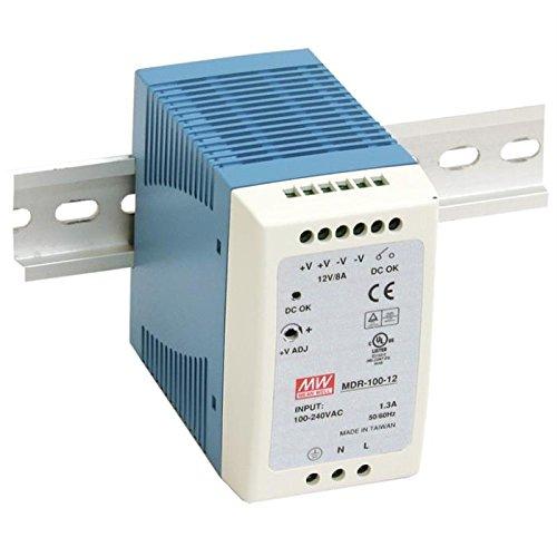 Din-Rail Fuente de alimentación 90W 12V 7,5A ; MeanWell, MDR-100-12