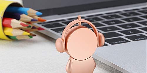USB-Stick Flash Laufwerk Speicherstick Drive USB2.0 Kreativ Karikatur Metall 4/8/16/32/64 / 128GB Schnelle Geschwindigkeit Sicherheit Tragbar Mini PC Fernseher (4GB, Roségold)