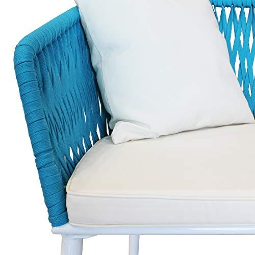 CASART Rattan Vimini Divano Laterale caff/è tavolino di scrivania Veranda mensola Indoor//Outdoor Furniture