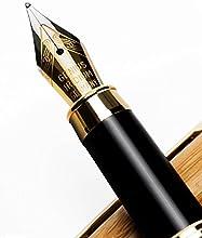 zogeen hecho a mano pluma estilográfica & # xff5C; bambú Vintage Sets para dibujar y escribir cartucho # xff5C; mejores regalos pen con Natural caso, cartuchos de tinta y cartuchos de tinta convertidor & # xff5C; you get lujo dorado puntas Ejecuti