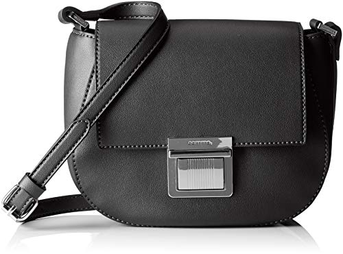 comma Damen Come With Me Shoulderbag Shf Schultertasche, Schwarz (Black), 7x16x20 cm