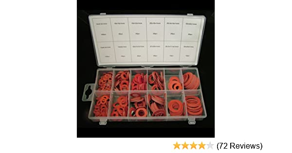 Toolzone 600Pc Assorted Fibre Washer Set Nails, Screws & Fixings Free post HW190