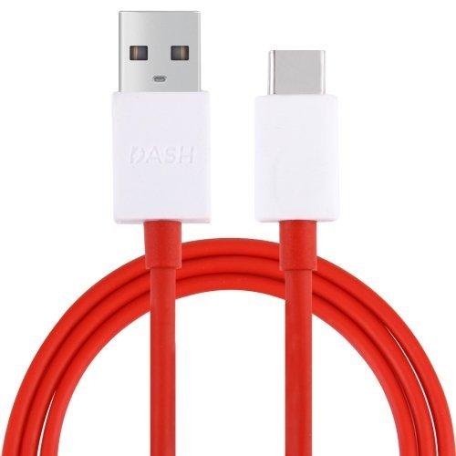 DUX DUCIS Cavo per Oneplus 7T / 7T Pro / 7 / 7 Pro / 6T / 6 / 5T / 5 / 3T / 3, Dash Tipo C USB Cavo Dati Cavo di Ricarica Veloce (5V/4A) (Rosso)
