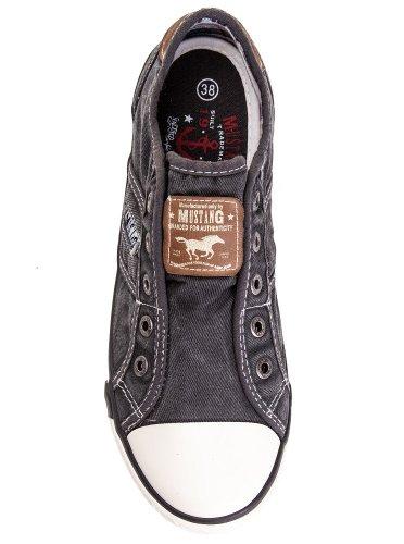 Mustang Shoes Herren Schuhe Sneaker grau Grau
