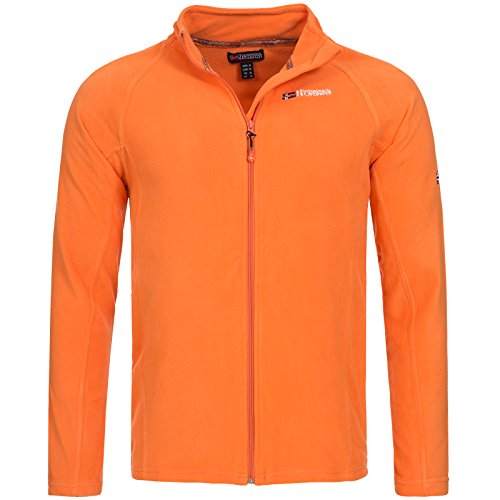 Geographical Norway Herren Fleece Jacke Übergang Sweatjacke BF 00203H Orange