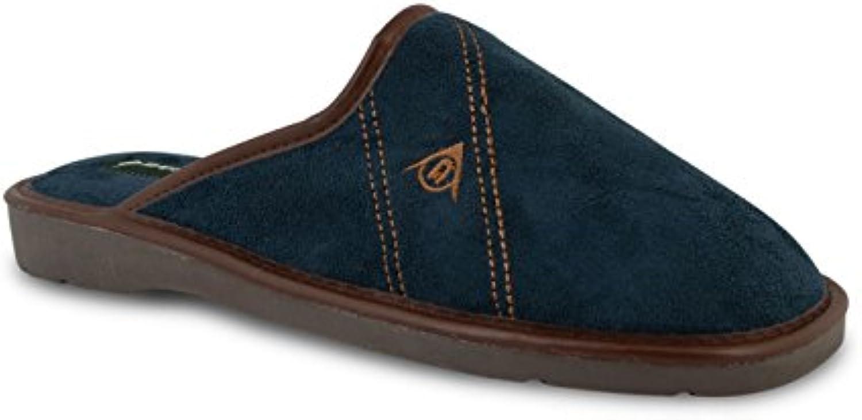 Dunlop - Zapatillas de estar por casa para hombre blue/brown/navy