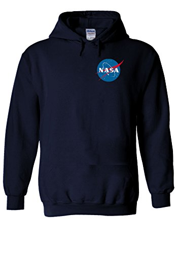 Nasa National Space Packet Pocket America Navy Men Women Unisex Hooded Sweatshirt Hoodie-S