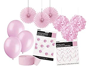 Unique Party- Party Kit, Color rosa claro, pack de 1 (63843)