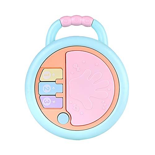 happySDH Babyspielzeug,Musik Geschichte Maschine kann Projektion Mikrofon Lernspielzeug, Ab 6 Monaten, BPA-frei,Rassel Baby Greifspielzeug mit Beißringen (Früherzieher (Schlagzeug))