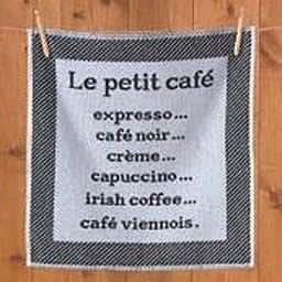Carré éponge 50x50 'Le Petit Café'